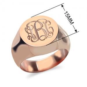 Circle Designs Signet Monogram Initial Ring