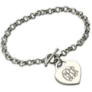 Personalized Monogram Toggle Bracelet