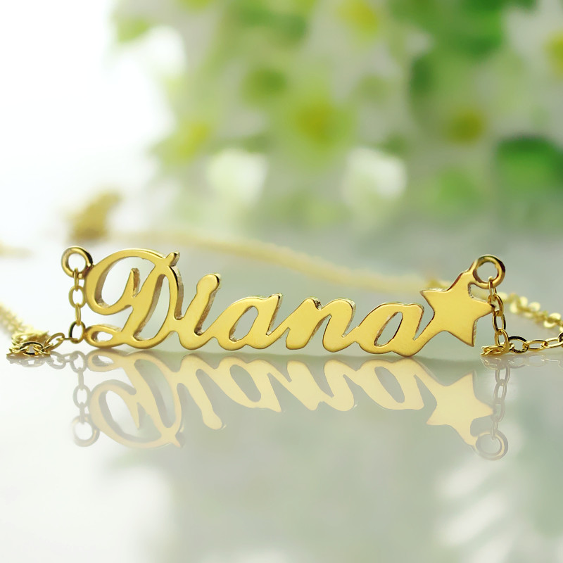 18K Gold NamePlate Necklace
