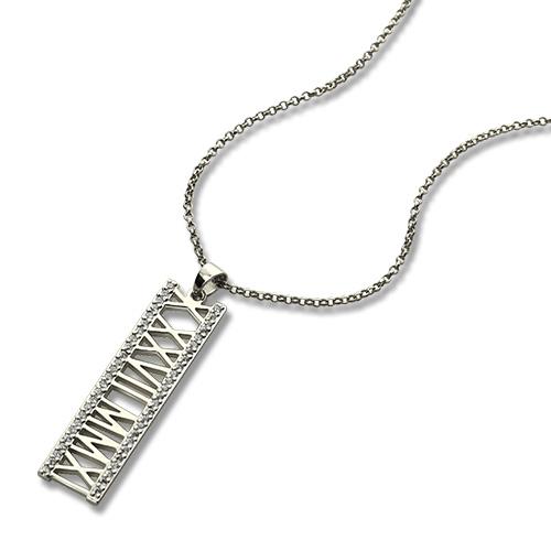roman numeral necklace