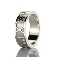 Personalized Roman Numerals Band Ring Sterling Silver