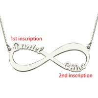 Personalized Infinity Symbol Necklace Double Name (Picture Upload)