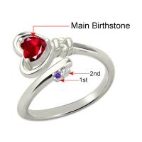 key to heart ring