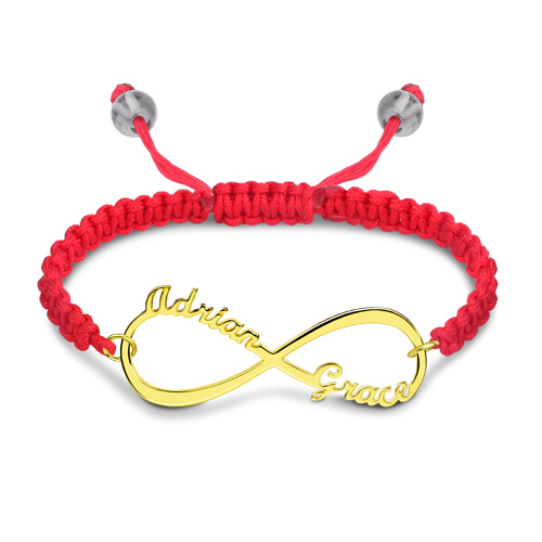 infinity name bracelet