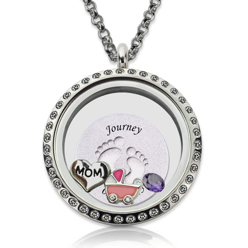 floating locket necklace
