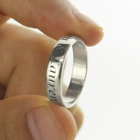 Personalized Promise Name Ring Stainless steel