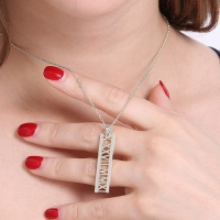 Special Date Necklace Sterling Silver