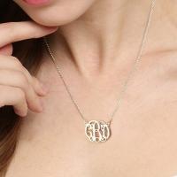 Celebrity monogram necklace