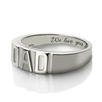 men's DAD ring