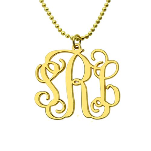 Mix & Match Monogram earrings & Monogram Necklace Set