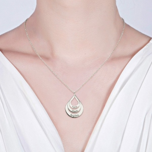 silver necklace for mothers