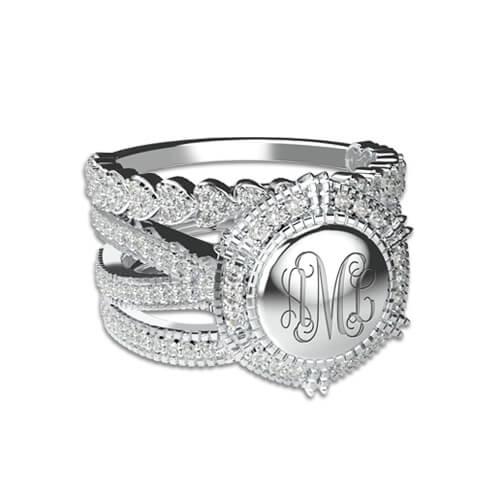 engraved monogram rings