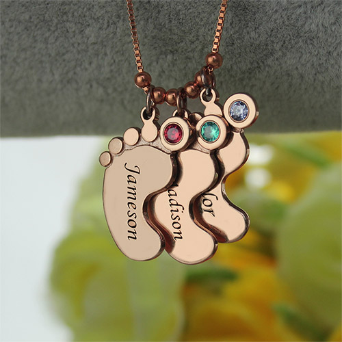 feet necklace