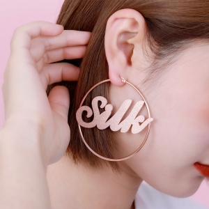 Personalized Name Hoop Earrings