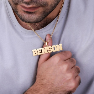 Personalized Hip Hop Name Necklace for Man