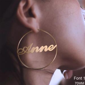Personalized Name Hoop Earrings