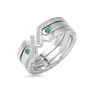 Custom Combination Knot Birthstone Ring With Cubic Zirconia