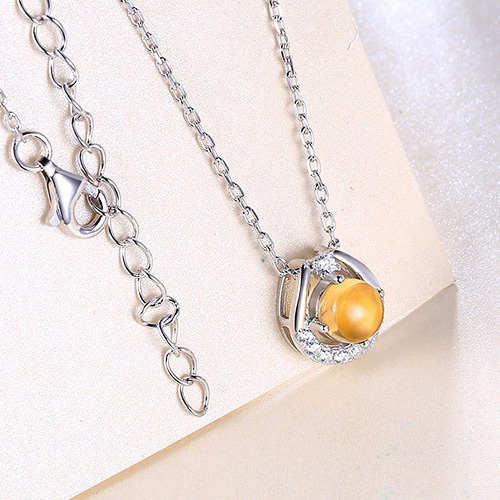 citrine necklace for women