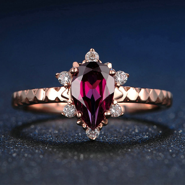 water drop birthstone ring for mom
