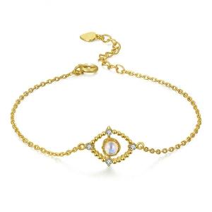 Natural Blue Moonstone Bracelet For Women