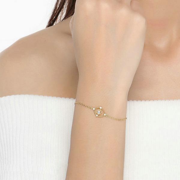 Genuine natural moonstone bracelet