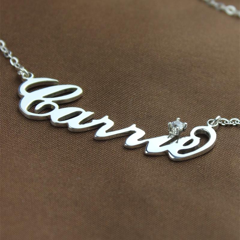 Celebrity NamePlate Necklace