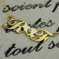 Gold Plated Initial Pendant