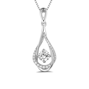 Sterling Silver Waterdrop Birthstone Necklace