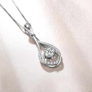 waterdrop shape necklace