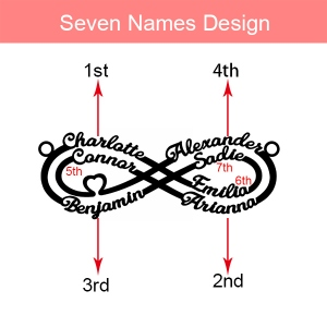 Personalized Infinity Name Necklace Stainless Steel